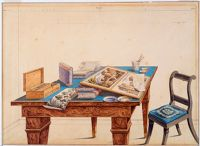 Perspective Rendering Of Artist's Table
