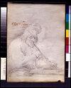 Blank Page; Verso: Peasant Smoking