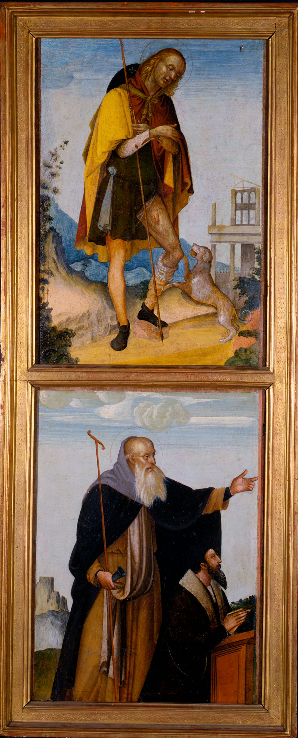 Saint Roch And Saint Anthony Abbot With A Donor
