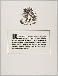 Ran Away, A Man Named Glenn, Five Feet Eight Inches High, Medium-Brown Skin...