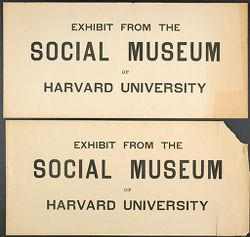 Miscellaneous: Social Museum Signs.   Social Museum Collection