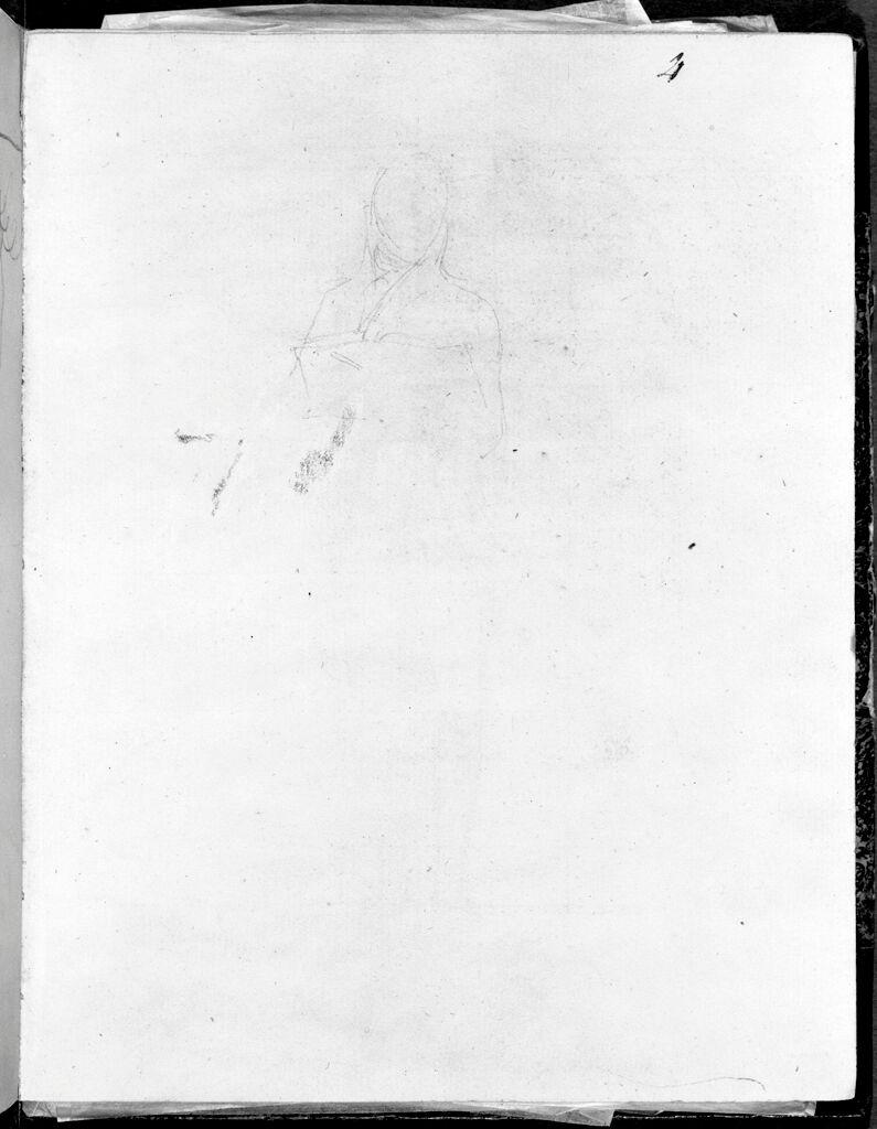 Faint Trial Head And Shoulders For David's Self-Portrait