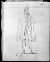 Chamberlain Holding His Hat; Verso: Faint Sketch Of Maréchal Lefebvre