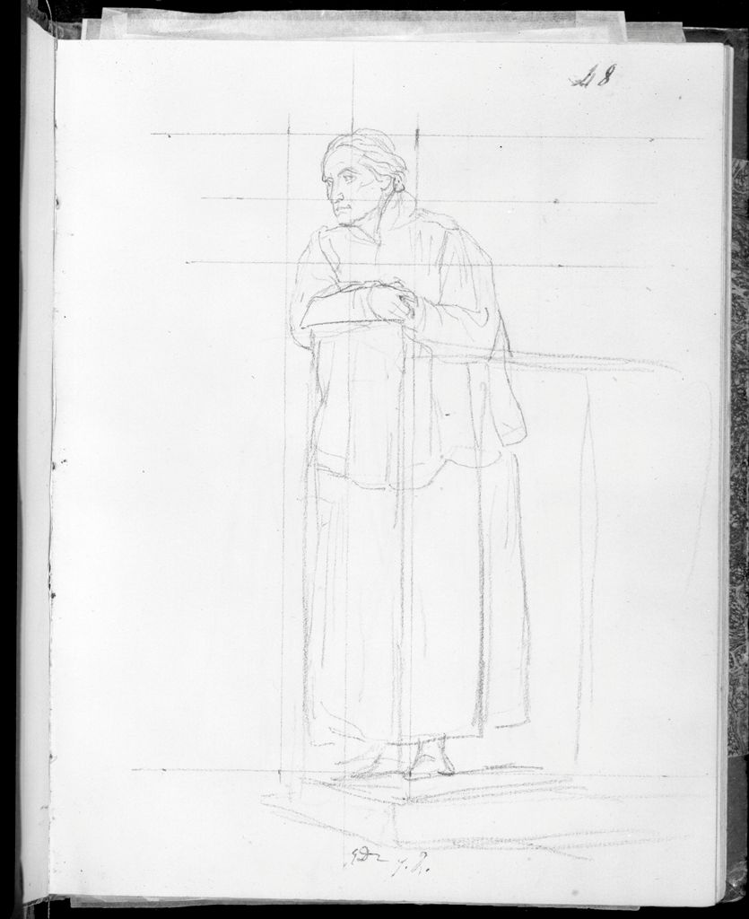 Priest Leaning On A Railing
