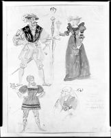 Four Costume Sketches
