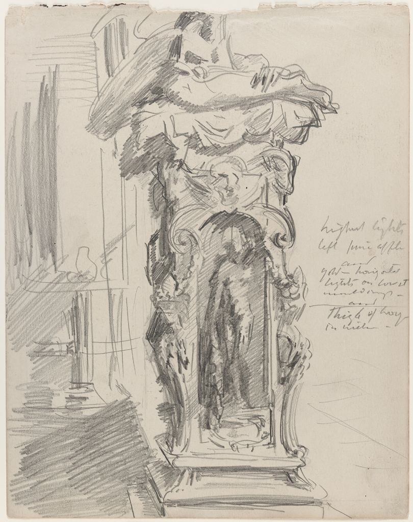 Sketch Of The Base Of Cellini's