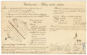 Mathematical Problems and their Solutions. [Four Problems] Thomas Chandler Digital Object