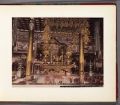 Work 6 of 30 Title: Interior at Ikegami [Honmonji] temple, n... Date: ca. 1890