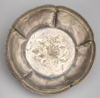 Lobed Bowl With Cusped Mouth And Decoration Of A Blossoming Branch
