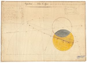 Projection of a Solar Eclipse, April 12, 1782, for the Meridian of Cambridge, Lat. 42° 25′ N.; Long. 4h 44′ W. Richard Codman Digital Object