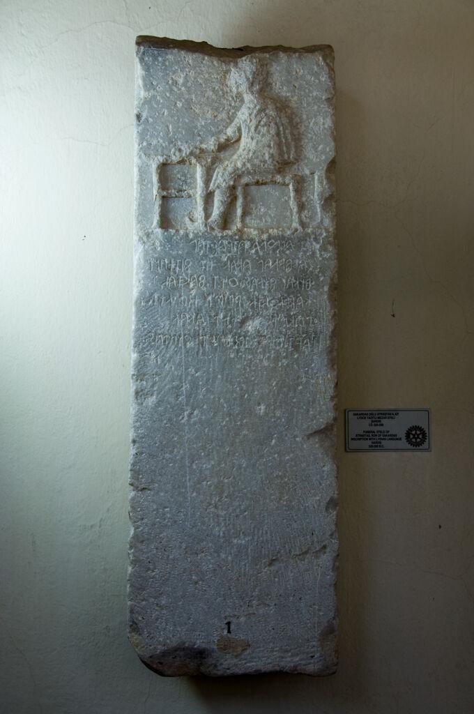 Atrastas'ın mermer steli