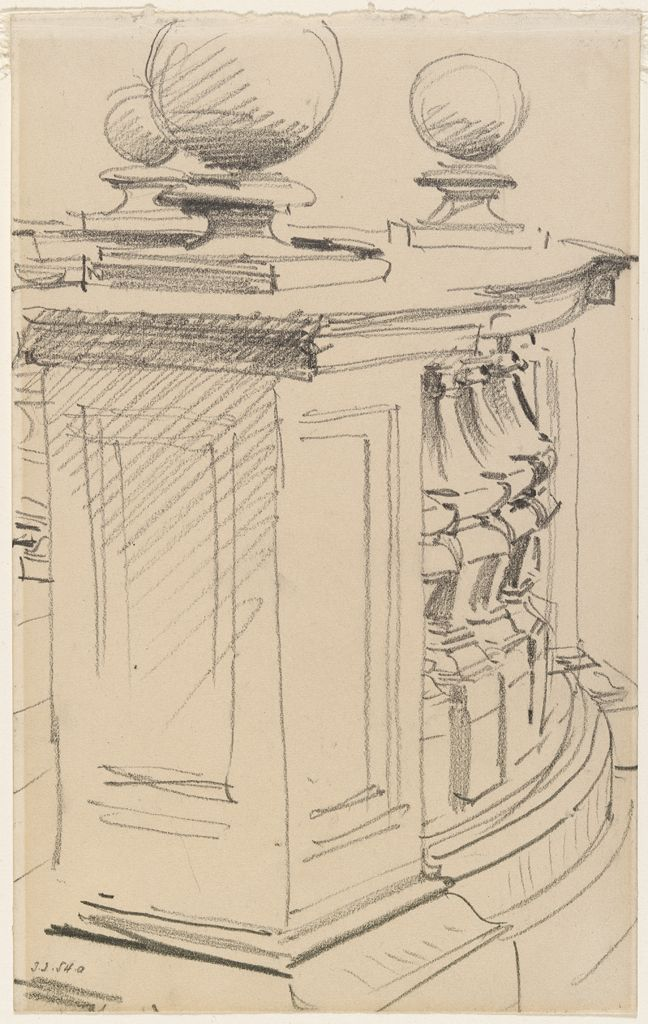 Sketch Of A Balustrade, San Domenico E Sisto, Rome