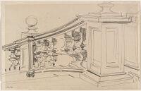 Sketch Of A Balustrade, San Domenico E Sisto, Rome