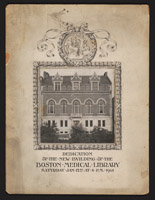Dedication of the new building of the Boston Medical Library, Digital Object