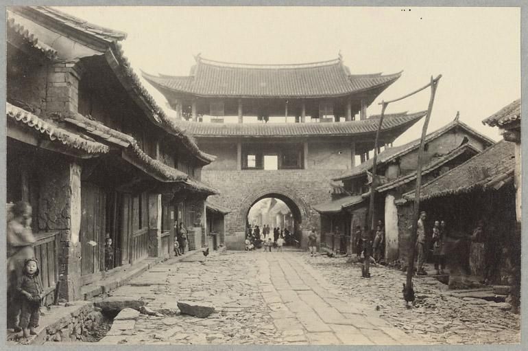 Mestna ulica v Yunnanu