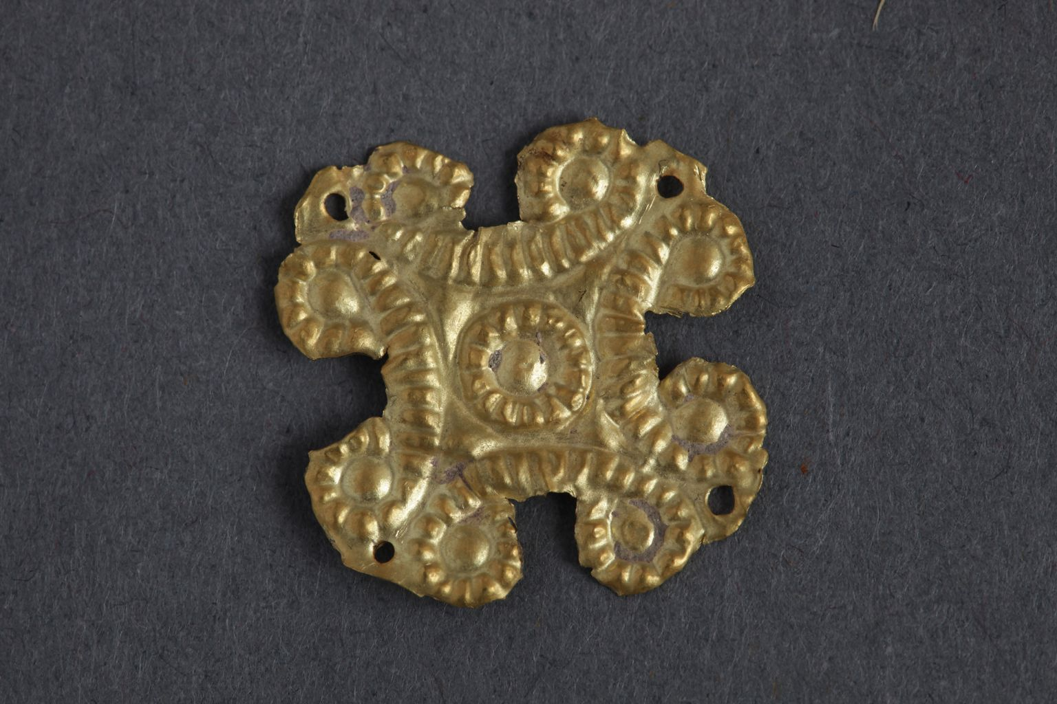 Gold floral appliqué from Ephesus