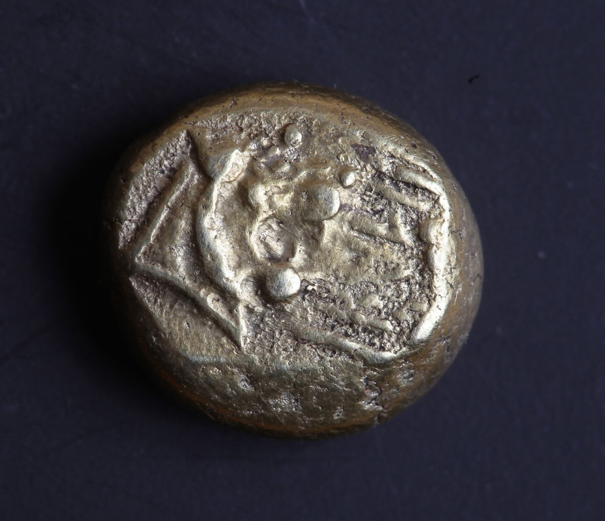 "Electrum Third-Stater with Lydian Inscription, ""kukalim""?"