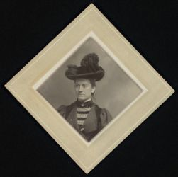 [Williamina P. Fleming, photographic portrait, ca. 1890].   [Fleming, Williamina P., [photographic portrait, ca. 1900]
