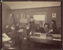 [Observatory computer room and staff], 1891