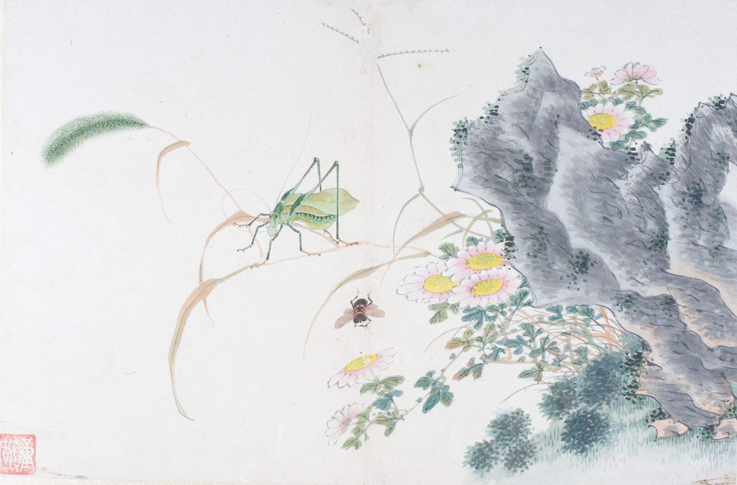 Album Leaf Of Flowers And Insects