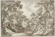 Landscape with a Road near a Pond