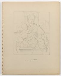 Madonna And Child With The Infant Baptist, After Raphael; Verso: Diagrams And Notes Related To