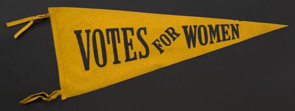 """Banner. """"Votes for Women."""""""