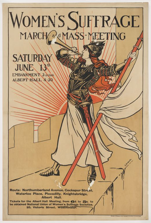 Women's Suffrage March and Mass Meeting poster