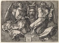The Sudarium Displayed By Two Angels