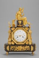Mantel Clock with the Figure of Clotho