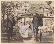 Work 28 of 48 Title: Woman in basket palanquin and her bearer... Date: 188-?
