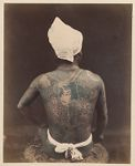 Work 47 of 48 Title: Tattooed man Creator: Stillfried, Baron Raimund von Date: 187-?
