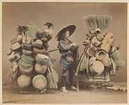 Work 48 of 48 Title: Basket seller Creator: Stillfried, Baron Raimund von Date: ca. 1875