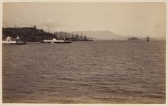 Work 32 of 58 Title: Telegraph Hill and waterfront, San Franc... Creator: Taber, I. W. Date: 1881?