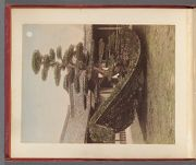 Work 2 of 58 Title: Rikushu (boat on land) pine tree in gard... Date: 188-?
