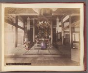 Work 5 of 58 Title: Buddhist priests prayer in a temple Date: ca. 1892