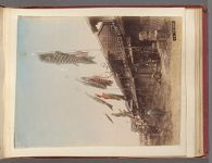 Work 13 of 58 Title: Carp streamers hanging on street, possib... Date: ca. 1892