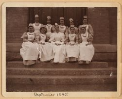 Miss Hannah Jane Ewin and the first class in post-graduate training school