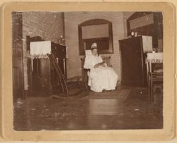 Miss H. J. Ewin in Superintendent's first living room