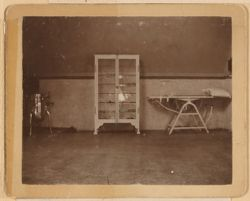 Instrument Case. First autoclave operating table on which was performed the first abdominal section for ovarian tumor by Dr John Homans.