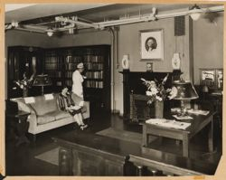 Parkway Hospital - 2 views of Reception Room for private patients.  Nurse is Miss Isabel Manson, Asst. Supt.