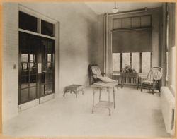 Parkway Hospital - Sun Room 1st Floor - in 1935 converted to a 4-bed ward for semi-private patients