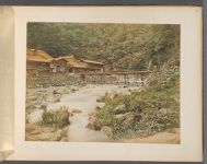 Work 23 of 50 Title: Tonosawa, one of places of hot springs, ... Creator: Tamamura, Kozaburo Date: 187-?