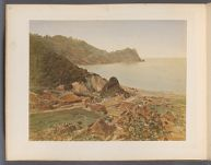 Work 24 of 50 Title: Landscape view showing town on coastline... Creator: Tamamura, Kozaburo Date: ca. 1876