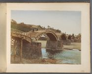 Work 25 of 50 Title: Kintai Bridge on Nishiki River at Iwakun... Creator: Tamamura, Kozaburo Date: 187-?