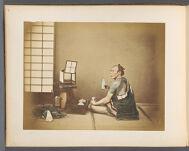 Work 32 of 50 Title: Man drinking sake Creator: Tamamura, Kozaburo Date: 188-?