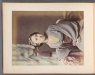 Work 34 of 50 Title: Japanese woman sitting Creator: Tamamura, Kozaburo Date: 188-?