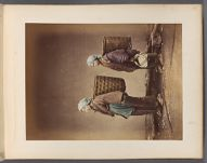 Work 39 of 50 Title: Two women wearing head clothes and carry... Creator: Attributed to Tamamura, Kozaburo Date: ca. 1876