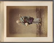 Work 45 of 50 Title: Blind street singer with shamisen Creator: Attributed to Tamamura, Kozaburo Date: ca. 1874