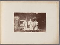 Work 5 of 24 Title: Buddhist monks from Hwagyesa Temple in S... Creator: Lowell, Percival Date: 1884